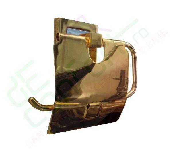 Suport hartie igienica Luxury Gold antichizat