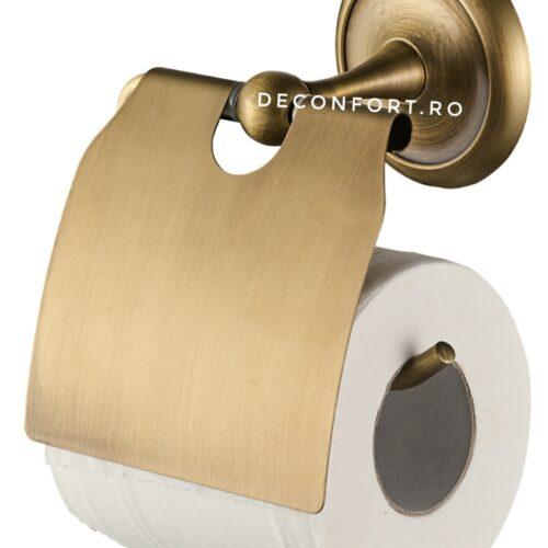 Suport hartie toaleta Epoque aspect antichizat retro prindere dibluri