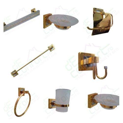 Suport pahar baie Luxury Gold antichizat
