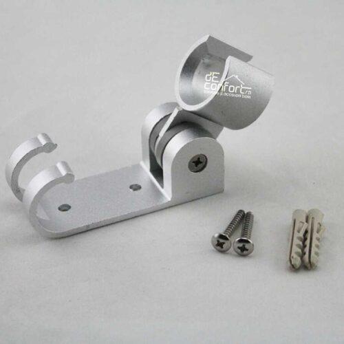 Suport para dus aluminiu reglabil cu cuier dublu prindere perete