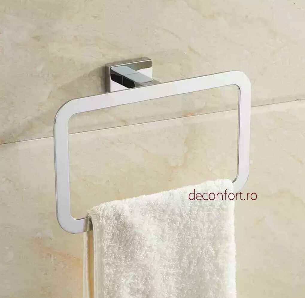 Suport prosop inel Liner cromat aspect liniar forma rectangulara prindere perete