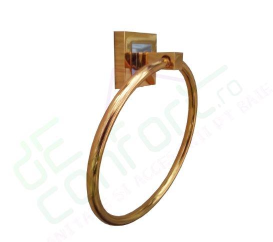 Suport prosop inel Luxury Gold antichizat