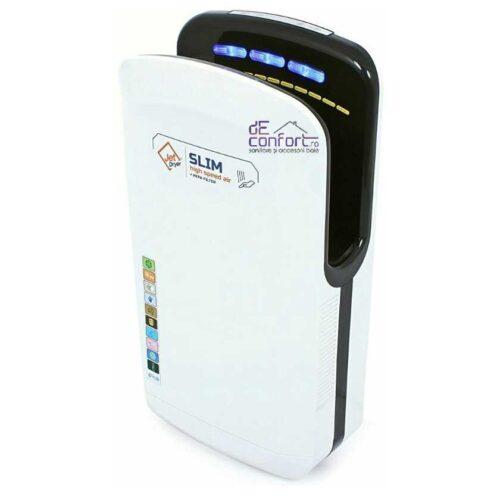 Uscator maini senzor JetSlim 1800W carcasa alba filtru hepa  uscare rapida maini