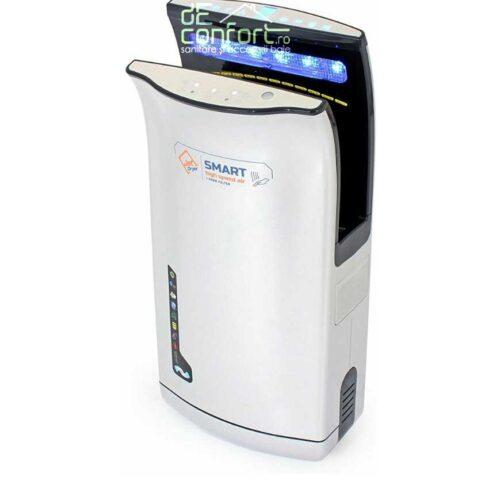 Uscator maini senzor JetSmart argintiu 1800W uscare rapida aer cald rece