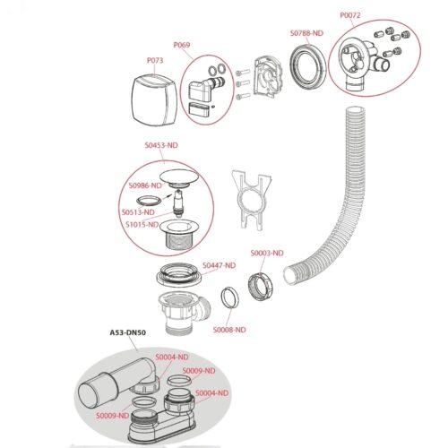 Ventil cada click-clack cu sifon  si alimentare prin preaplin cromat