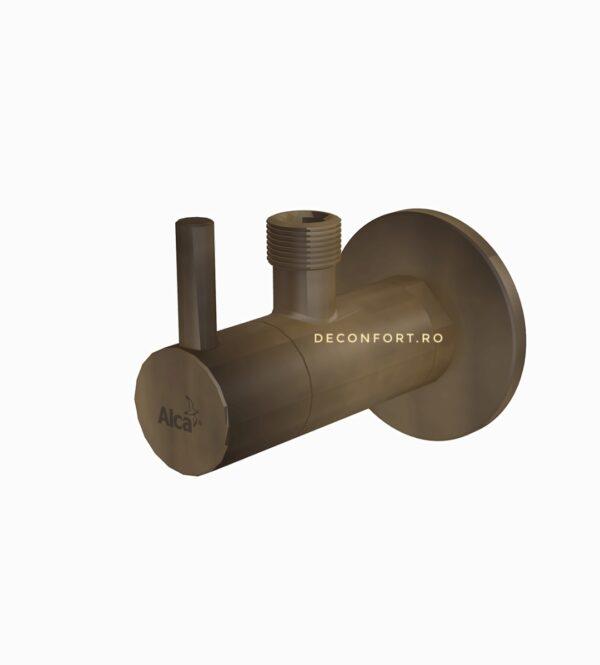 Robinet coltar cu filtru bronz antichizat 1/2 sau 3/8