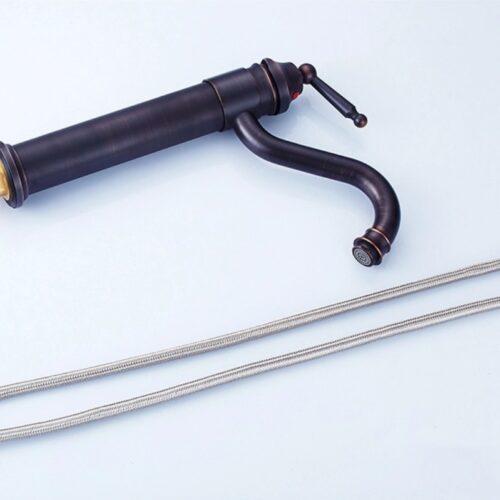 Baterie antichizata neagra montare blat CMK Sanitape