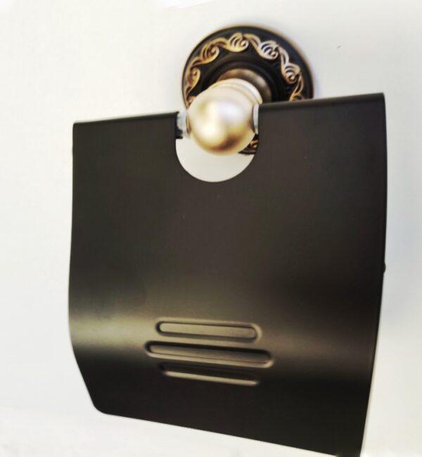 Suport antichizat hartie igienica AGS1 negru auriu
