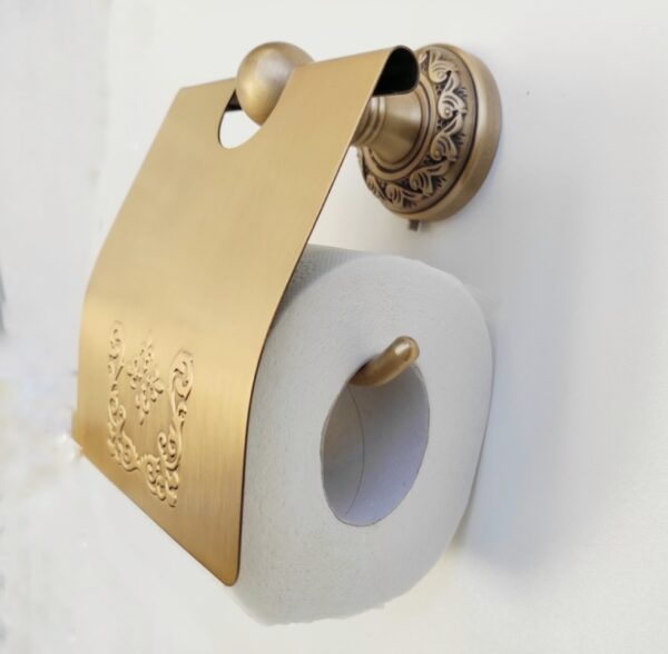 Suport hartie igienica aluminiu antichizat AGS1 rola mica
