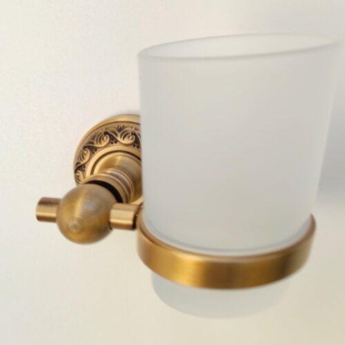 Suport aluminiu antichizat periuta sticla mata AGS2