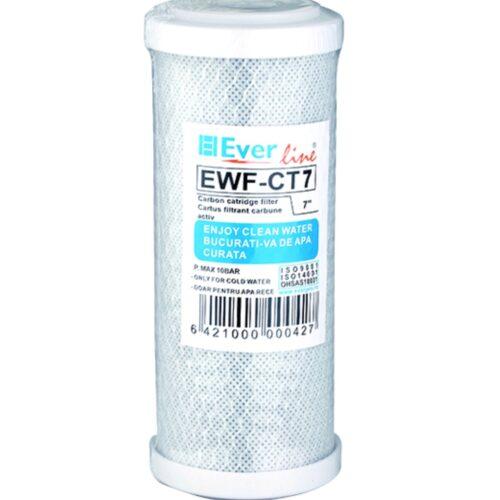 Cartus filtru apa 7″ carbune activ filtrare 5microni