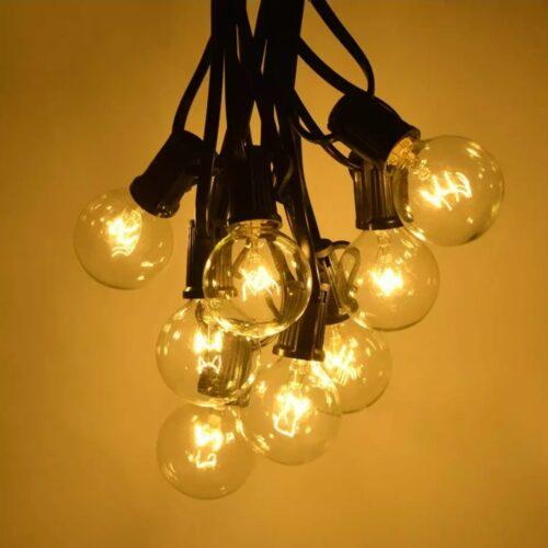 Cordon cablu verde iluminare terasa bec led E27