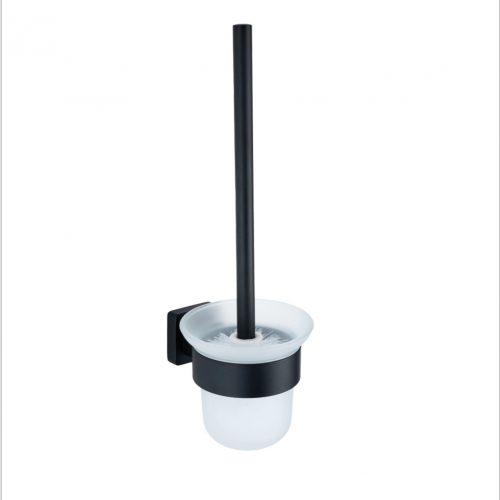 Accesorii baie negru mat alama AGS 5 piese