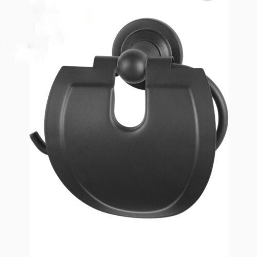 Suport rola hartie igienica negru Yakamoz