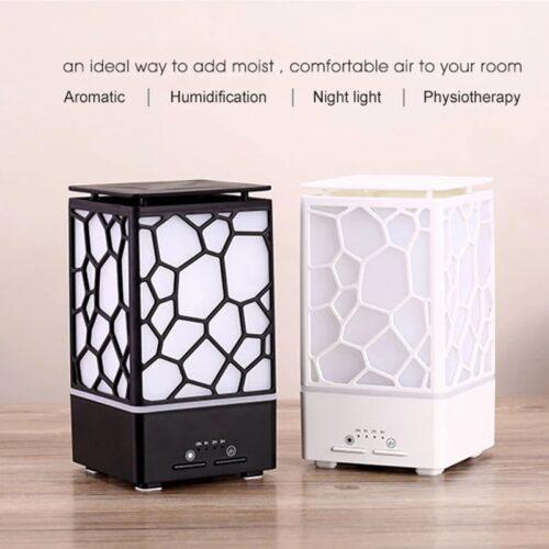 Umidificator aromaterapie uleiuri esentiale Water Cube negru