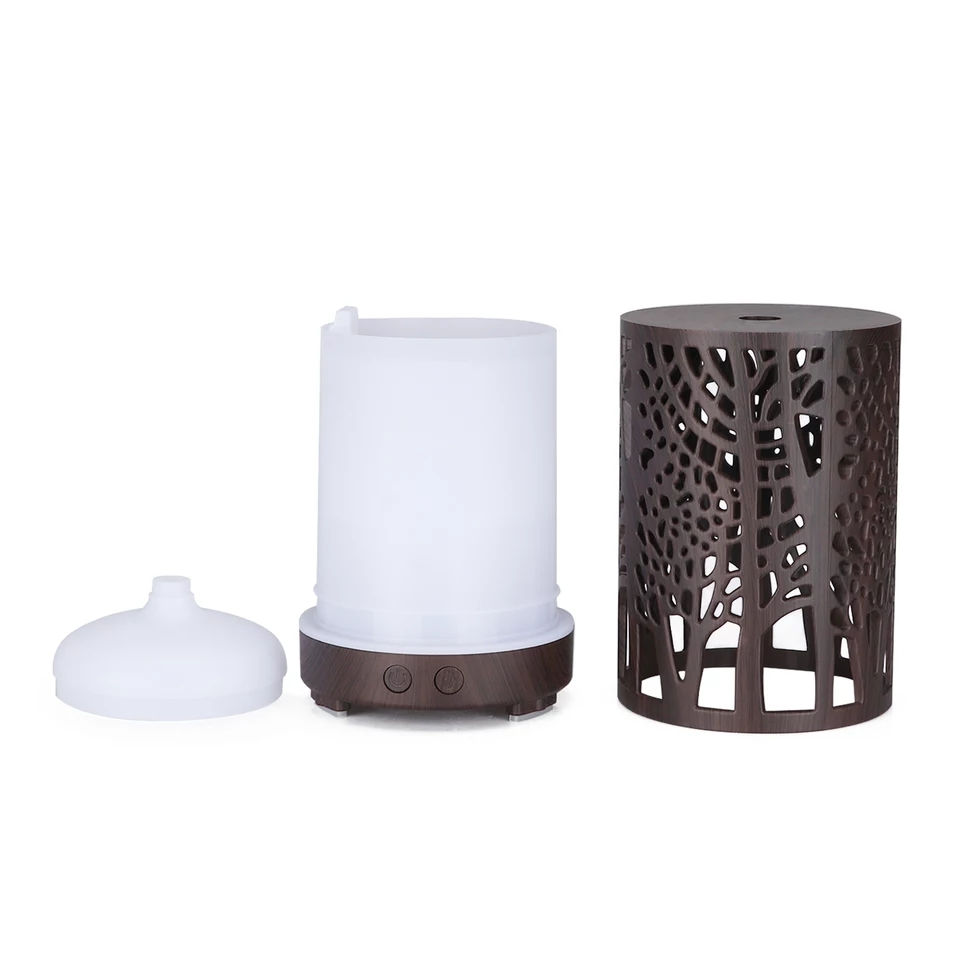 Difuzor uleiuri esențiale aromaterapie Wood Tower wenghe