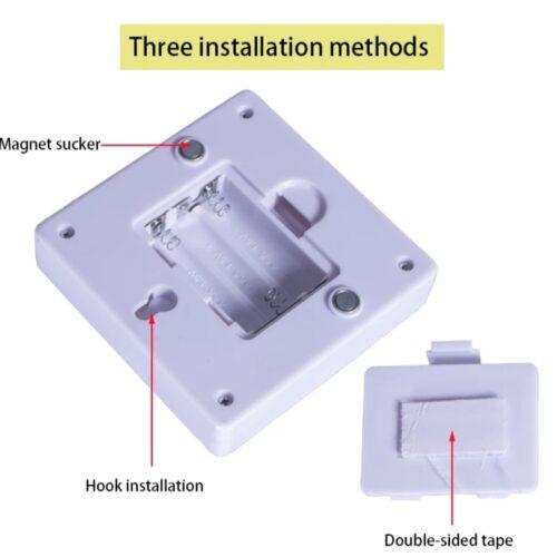Intrerupator portabil LED 3W fixare magnetica sau adeziv
