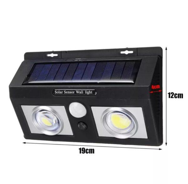 Lampă solară LED cu senzor mișcare și lumina