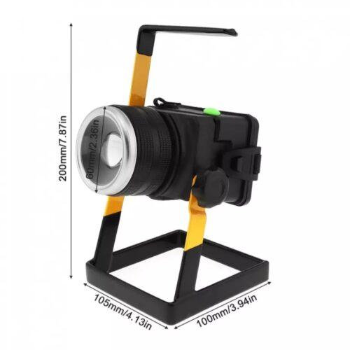 Proiector led portabil 30w lumina intensa carcasa aluminiu