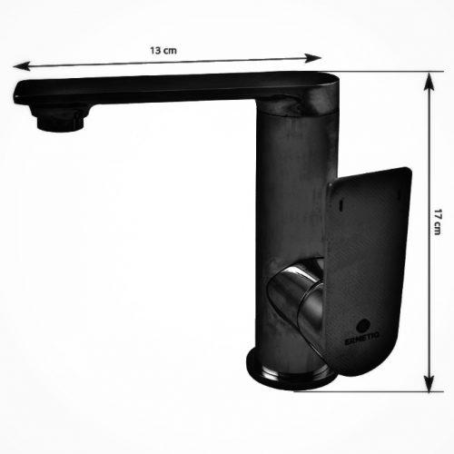 Baterie lavoar antichizata maner lateal Ermetiq negru retro