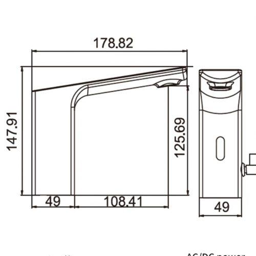 Senzor lavoar baie profesional fara atingere reglare temperatura apa
