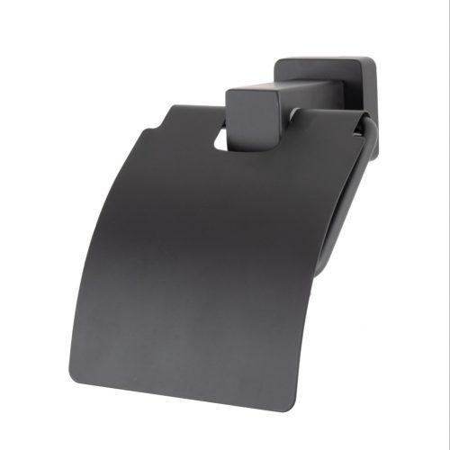 Suport hartie igienica alama negru mat AGS5
